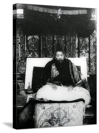 Thubten Gyatso, 13th Dalai Lama of Tibet. C.1908-21--Stretched Canvas Print