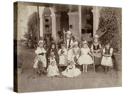 Children's Fancy Dress Party in India, Late 19th Century--Stretched Canvas Print