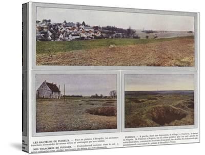 Les Hauteurs De Puisieux, Puisieux, Nos Tranchees De Puisieux-Jules Gervais-Courtellemont-Stretched Canvas Print