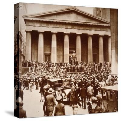 Scene of Panic in Wall Street, New York, 24th October 1929--Stretched Canvas Print