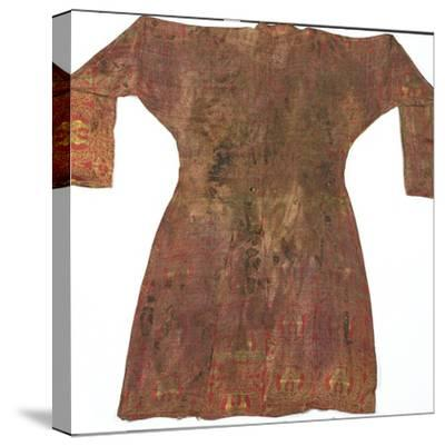 Brightly Coloured Seljuk Lampas Robe, Central Asia, 11th - 12th Century--Stretched Canvas Print
