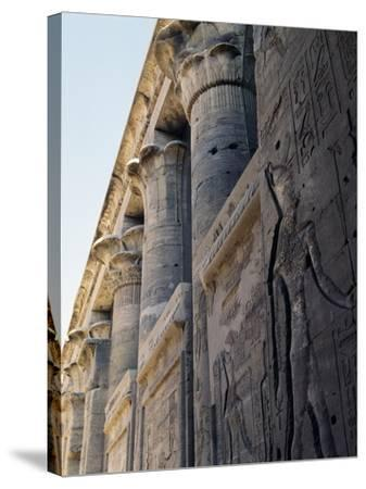 Reliefs and Capitals from Trajan's Kiosk, Philae Temple Complex--Stretched Canvas Print