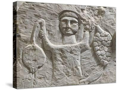 Limestone Stele Depicting Male Figure with Fruit, from Maktar--Stretched Canvas Print