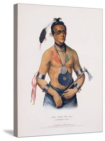 Hoo-Wan-Ne-Ka, Illustration from 'The Indian Tribes of North America'-Charles Bird King-Stretched Canvas Print