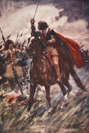 Through their Ranks Rode Wallenstein-Arthur C. Michael-Stretched Canvas Print