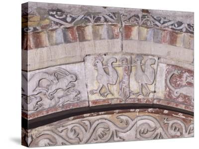 Relief Decorated Archvolt with Imaginary Animals, 1225-Adamino Di San Giorgio-Stretched Canvas Print