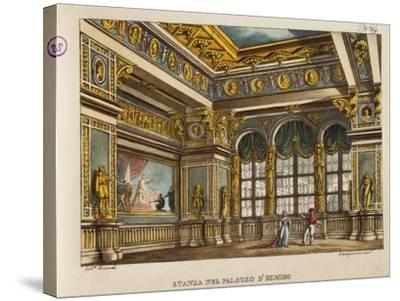 Room in the Palace of Elmiro, from 'Othello'-Alessandro Sanquirico-Stretched Canvas Print