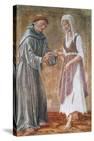 St Francis Marries Poverty-Domenico Di Bartolomeo-Stretched Canvas Print