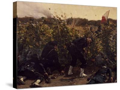 Battle of Malmaison, October 21, 1870, 1875-Etienne Prosper Berne-bellecour-Stretched Canvas Print