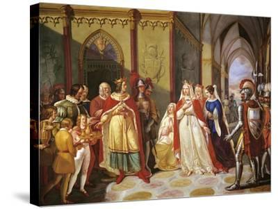 Tancred Sending Constance of Hauteville Back to Her Husband Henry IV-Gennaro Maldarelli-Stretched Canvas Print