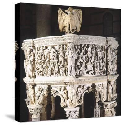 Italy, Cathedral of Pisa, Pergamon or Pulpit, 1301-1310-Giovanni Pisano-Stretched Canvas Print
