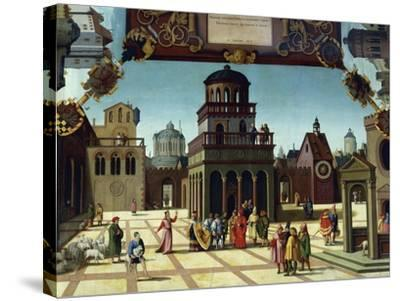 Nathan and David in Jerusalem, Detail from Stories of David, 1534-Hans Sebald Beham-Stretched Canvas Print
