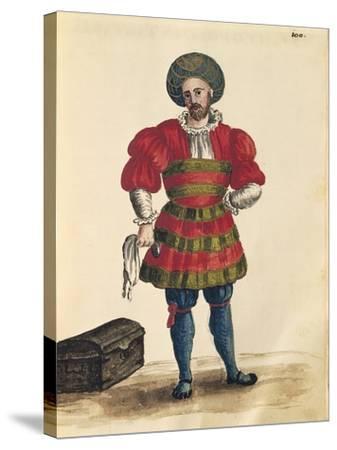 Venetian Clothing: Venetian Traveler-Jan van Grevenbroeck-Stretched Canvas Print