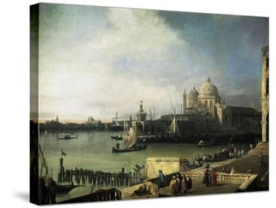 Customs and Salute Church in Venice, 1726-1728-Giovanni Antonio Canal-Stretched Canvas Print