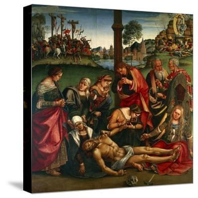The Deposion or the Lamentation over the Dead Christ, 1502-Luca Signorelli-Stretched Canvas Print
