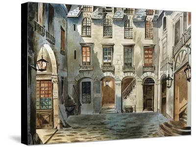 Original Set Design Sketch for Second Act of Opera La Boheme-Ruggero Leoncavallo-Stretched Canvas Print