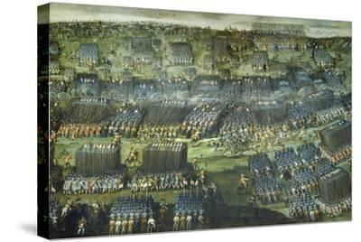 The Battle of White Mountain Near Prague on 7-8 November 1620-Pieter Snayers-Stretched Canvas Print