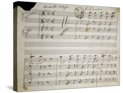 Autograph Sheet Music of Seven Last Words of Our Lord, 1856-Saverio Mercadante-Stretched Canvas Print