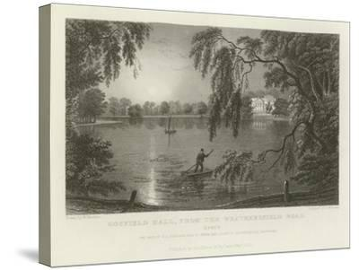 Gosfield Hall, from the Weathersfield Road, Essex, the Seat of E G Barnard, Esquire-William Henry Bartlett-Stretched Canvas Print