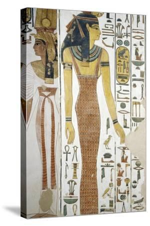 Selqet, Detail from the Frescoes in the Burial Chamber of Nefertari--Stretched Canvas Print