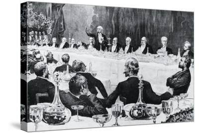 Banquet in Honor of President of Council of Ministers of Kingdom of Italy--Stretched Canvas Print