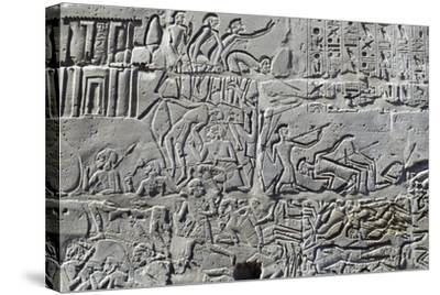 Detail from Relief of Battle of Kadesh--Stretched Canvas Print