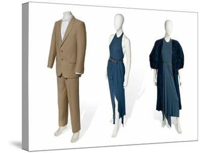 Two-Piece Suit in Fawn Gabardine--Stretched Canvas Print