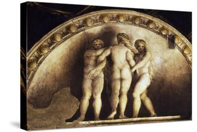 Lunette with the Three Graces--Stretched Canvas Print