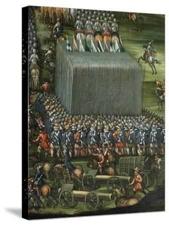 Infantry and Artillery Formation--Stretched Canvas Print