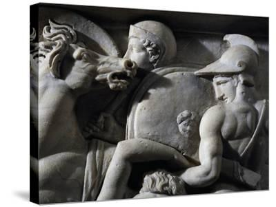 Figures of Greek Soldiers--Stretched Canvas Print