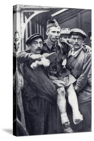 Porters at Boulogne--Stretched Canvas Print