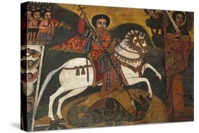 St George and Dragon--Stretched Canvas Print