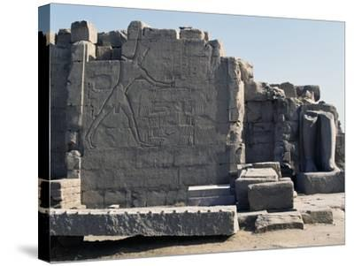 Thutmose III Imprisoning the Hittites, Relief, Rear of the Seventh Pylon, Karnak Temple Complex--Stretched Canvas Print