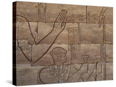 Bas-Relief, Lion Temple, Mussawwarat, Naga, Kingdom of Kush, Island of Meroe--Stretched Canvas Print