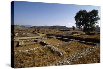 Pakistan, View of Excavations of Ancient Sirkap Archaeological Site of Today's Taxila--Stretched Canvas Print