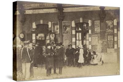 Postcard Depicting People Standing on a Platform at the Gare De Lyon-Perrache--Stretched Canvas Print