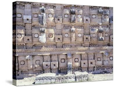 Decorations from the Temple of Codz-Poop Dedicated to the God of Rain Chac in Kabah--Stretched Canvas Print