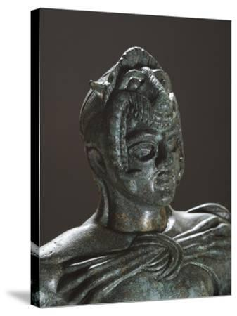 Bronze Statue of Hercules in Battle, Detail, from the Sanctuary of Villa Cassarini--Stretched Canvas Print