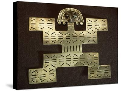 Pectoral Anthropomorphous 'Key Man' Type in Smelted Gold Shaped by Cire Perdue--Stretched Canvas Print