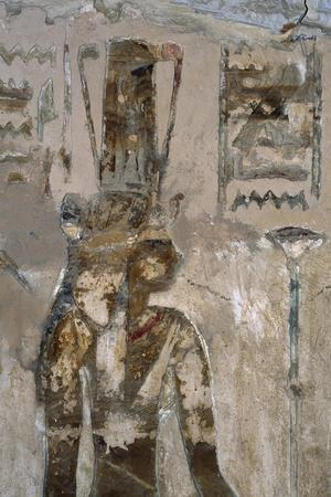 Wall Paintings, Temple of Ain El Meftla, Bahariya Oasis, Giza, Egypt, 26th Dynasty--Stretched Canvas Print