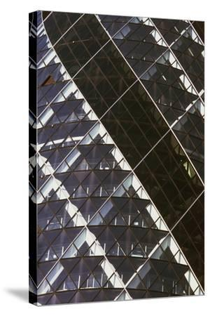 Exterior View of Mirrored Windows of 30 St Mary Axe, Formerly known as Swiss Re Building--Stretched Canvas Print