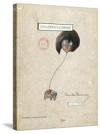 Cover of First Edition of Score for Children's Corner, Suite for Solo Piano by Claude Debussy--Stretched Canvas Print