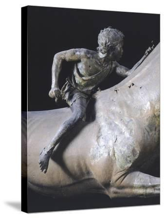 The Jockey of Artemision, Hellenistic Bronze Statue Found Near Cape Artemisio in Evia--Stretched Canvas Print