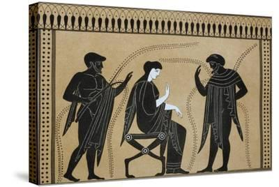 Iphigenia Between Orestes and Paris, from the Collection of Greek Vases by Mr. Le Comte De Lamburg--Stretched Canvas Print