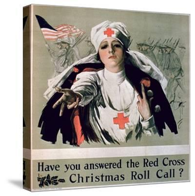 Have You Answered the Red Cross Christmas Roll Call?', 1st World War Poster--Stretched Canvas Print