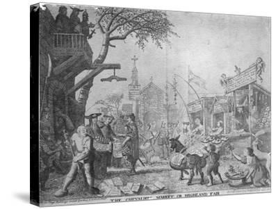 The Chevaliers Market, or Highland Fair, Published by George Bickham the Younger, 1745--Stretched Canvas Print