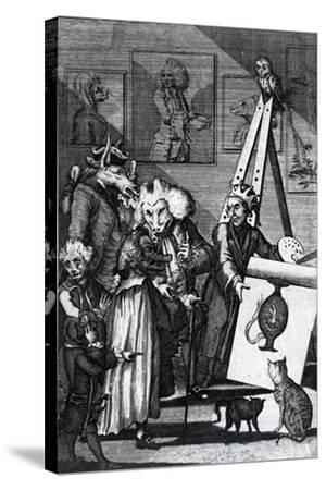 The Painter Submitting His Picture to the Examination of Connoisseurs and Antiquarians, 1774--Stretched Canvas Print
