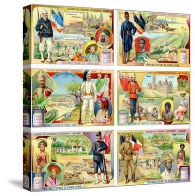 Colonies of the European Powers - France, Belgium, Italy, England, Holland and Germany, 1910--Stretched Canvas Print