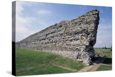 Ruins of the Northern Wall, Richborough Roman Fort, Kent, England, United Kingdom--Stretched Canvas Print