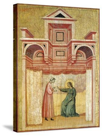 Cecilia Persuading Her Husband Valerian to Baptism--Stretched Canvas Print